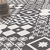 Vibe Charcoal Grey Patterned Wall and Floor Tiles - 223 x 223mm Small Image