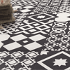 Vibe Black Patterned Wall and Floor Tiles - 223 x 223mm Small Image