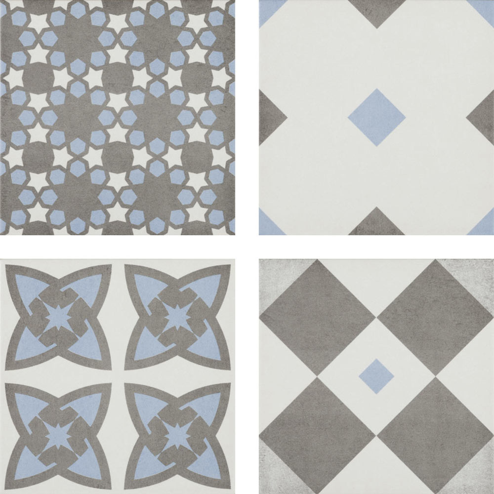 Vibe Patterned Wall and Floor Tiles - 223 x 223mm  Profile Large Image