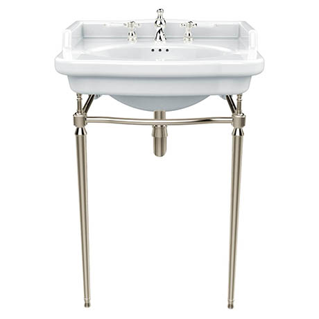 Heritage Abingdon Victoria Basin & Washstand (Vintage Gold - 3 Tap Hole)