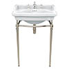 Heritage Abingdon Victoria Basin & Washstand (Vintage Gold - 3 Tap Hole) profile small image view 1