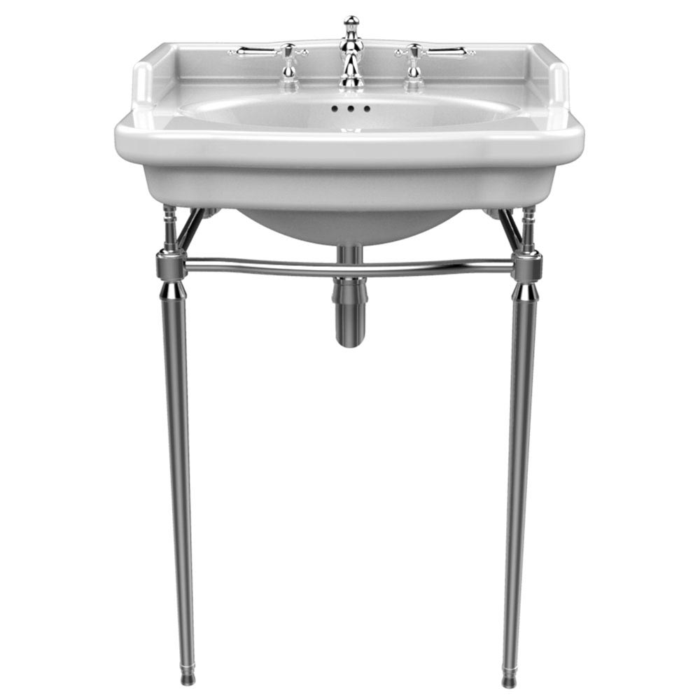 Heritage Abingdon Victoria Basin & Washstand - 3 Tap Hole profile large image view 1