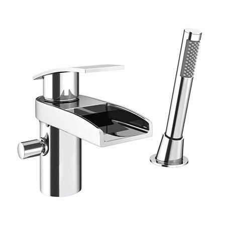 Zen Open Spout Mono Bath Shower Mixer with Shower Kit