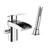 Zen Open Spout Mono Bath Shower Mixer with Shower Kit profile small image view 1