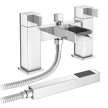Edge Waterfall Bath Shower Mixer + Shower Kit
