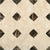 Victorian Chequered Gloss Cream Marble Effect Floor Tile - 600 x 600mm Small Image
