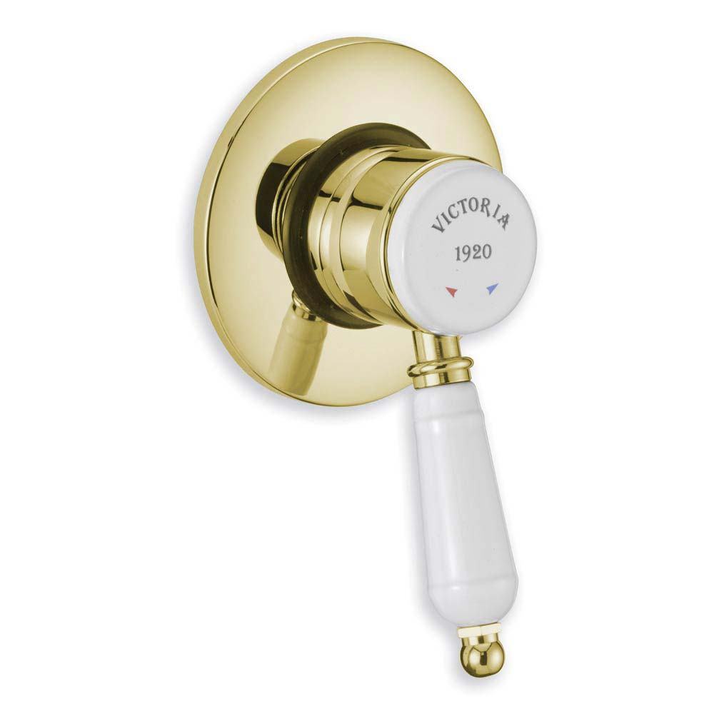 Tre Mercati Victoria Exposed/Concealed Manual Shower Valve - Antique Gold Large Image
