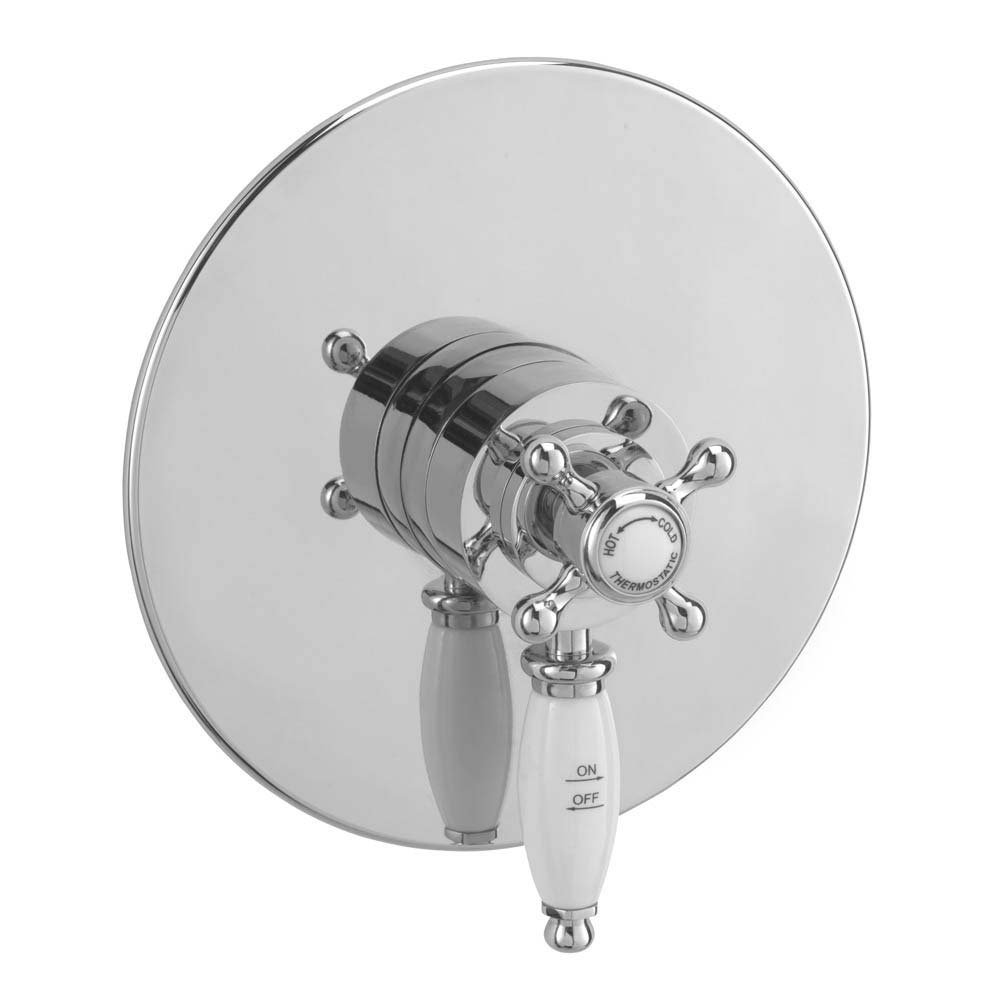 Tre Mercati Victoria Exposed/Concealed Thermostatic Shower Valve - Chrome Large Image