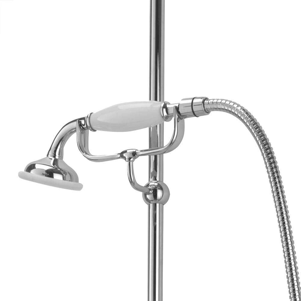 Tre Mercati Victoria Exposed Thermostatic Shower Valve with Riser Kit & Rose - Chrome  Standard Large Image