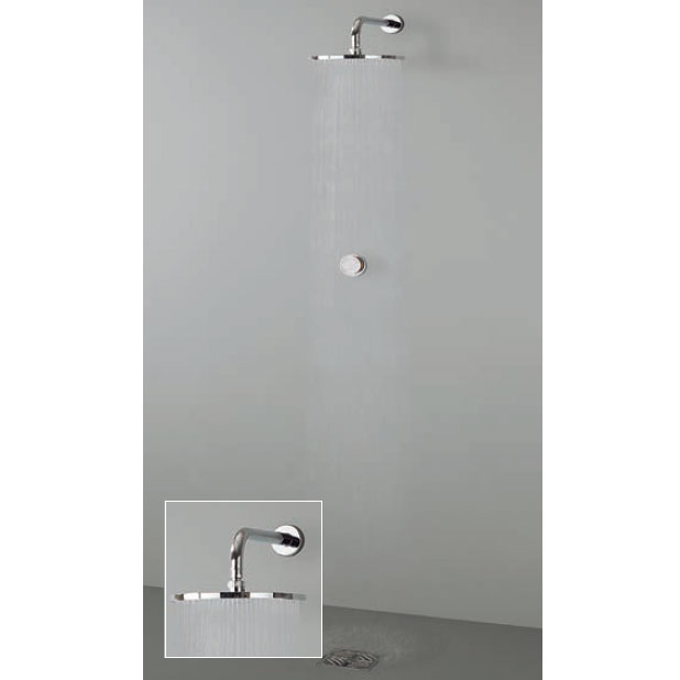 Crosswater Digital Virage Solo with Wall Mounted Fixed Shower Head Large Image
