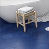 Vista Royal Blue Hexagon Porcelain Wall + Floor Tiles - (Pack of 27) - 215 x 250mm Small Image