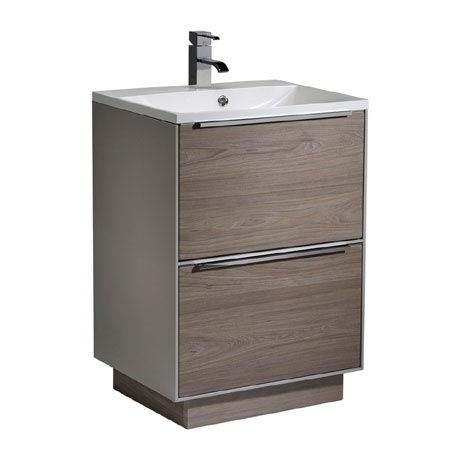 Roper Rhodes Vista 600mm Freestanding Unit - Taupe/Dark Elm
