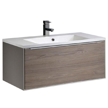 Roper Rhodes Vista 900mm Wall Mounted Unit - Taupe/Dark Elm