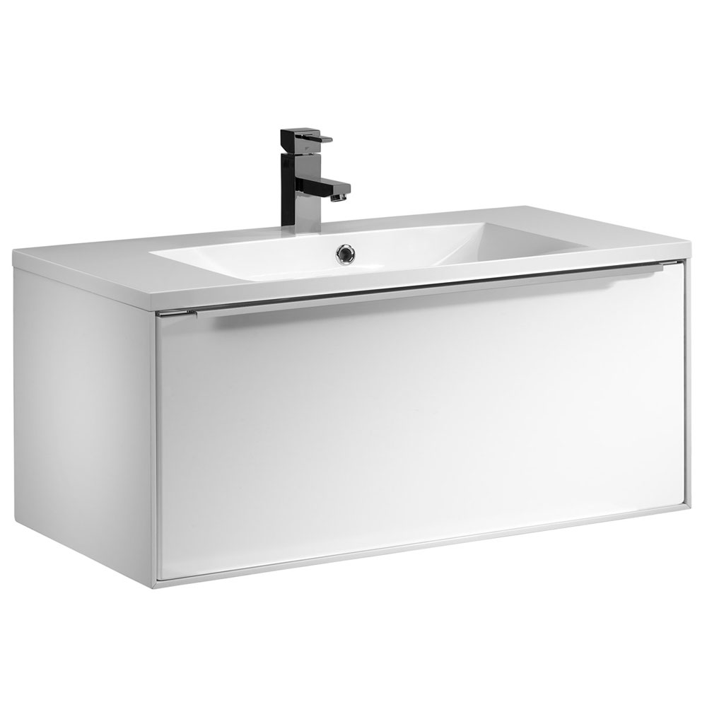 Roper Rhodes Vista 900mm Wall Mounted Unit - Gloss White Large Image