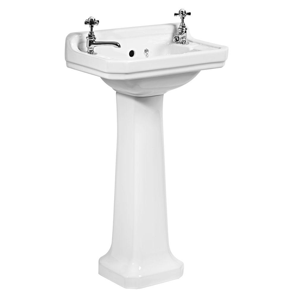 Tavistock Vitoria 500mm Cloakroom Basin & Pedestal profile large image view 1