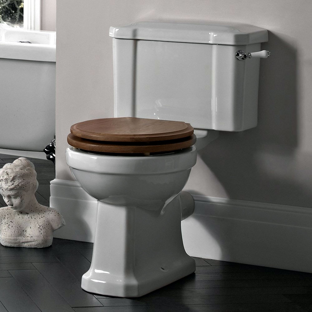 Tavistock Vitoria Traditional Close Coupled Toilet profile large image view 2
