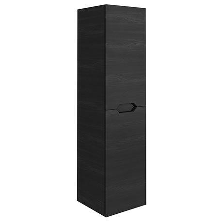 Vision 1400mm Black Wood Wall Hung Tall Storage Unit