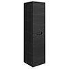Vision 1400mm Black Wood Wall Hung Tall Storage Unit profile small image view 1