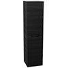 Vision 1400mm Black Wood Wall Hung Tall Storage Unit Small Image
