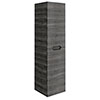 Vision 1400mm Grey Oak Wall Hung Tall Storage Unit profile small image view 1