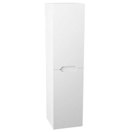 Vision 1400mm Gloss White Wall Hung Tall Storage Unit