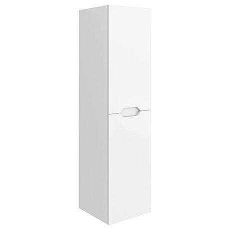 Vision 1400mm Gloss White Wall Hung Tall Storage Unit