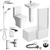Venice L-Shaped 1500 Complete Bathroom Package profile small image view 1