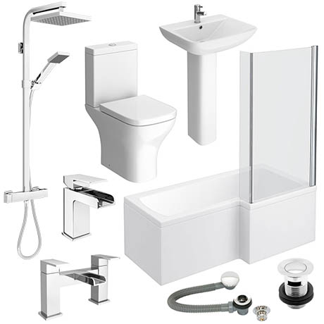 Venice L-Shaped 1600 Complete Bathroom Package