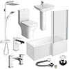Venice L-Shaped 1600 Complete Bathroom Package Small Image