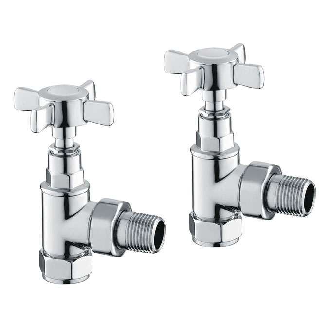 Reina Bronte Traditional Angled Radiator Valves profile large image view 1