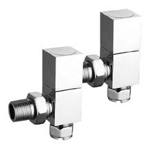 Reina Richmond Angled Radiator Valves - Chrome Medium Image