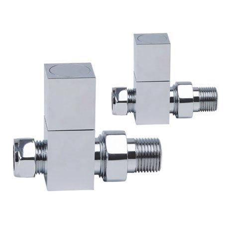 Reina Richmond Straight Radiator Valves - Chrome