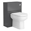 Apollo2 600mm Gloss Grey WC Unit Only profile small image view 1
