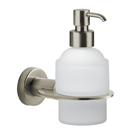 Venice Brushed Nickel Wall Mounted Soap Dispenser