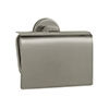 Venice Brushed Nickel Toilet Roll Holder with Cover profile small image view 1
