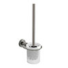 Venice Brushed Nickel Wall Mounted Toilet Brush & Holder profile small image view 1