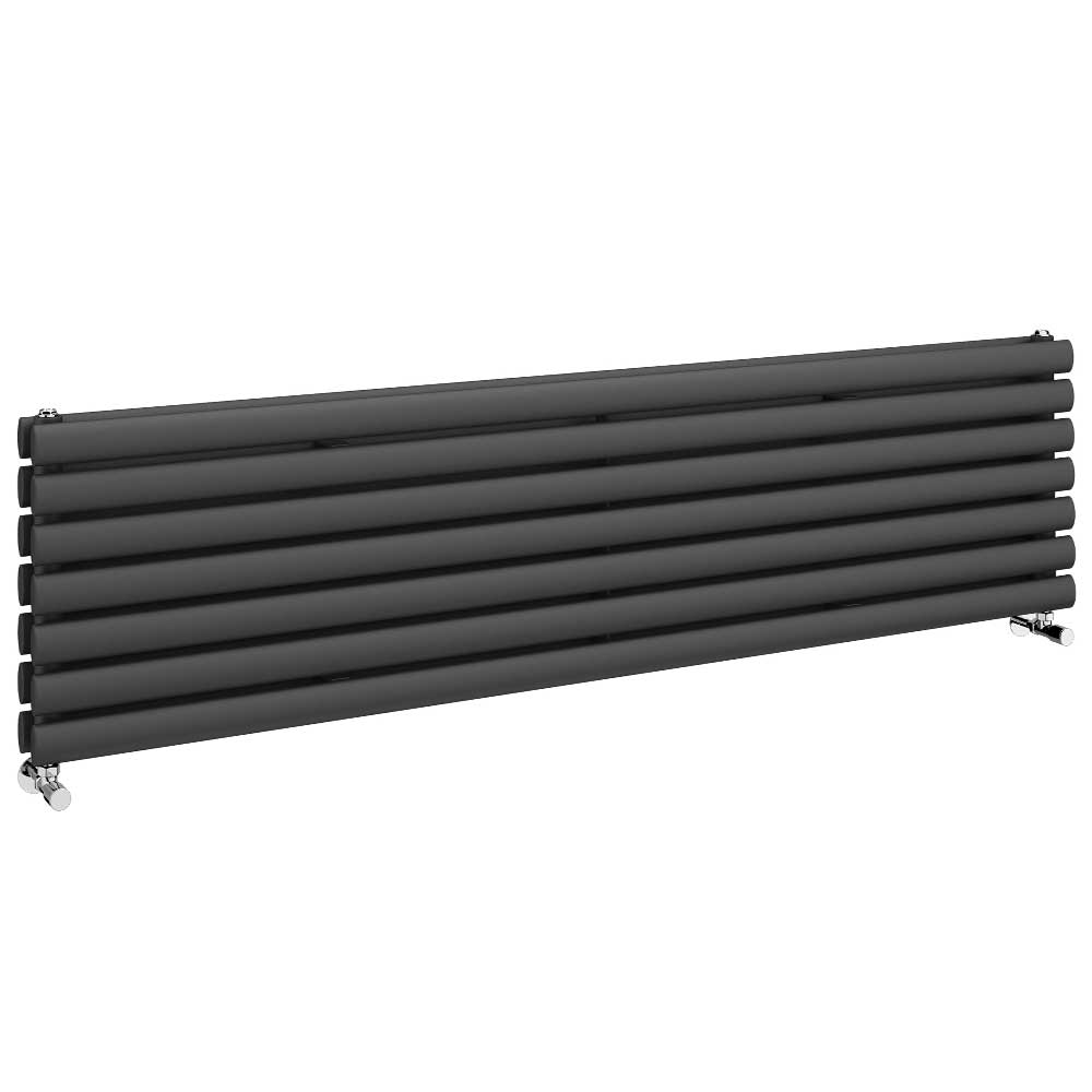 Metro Horizontal Radiator - Anthracite - Double Panel (1600mm Wide) Large Image
