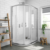 Newark Offset Quadrant Shower Enclosure Only (Easy Fit - Various Sizes) Medium Image