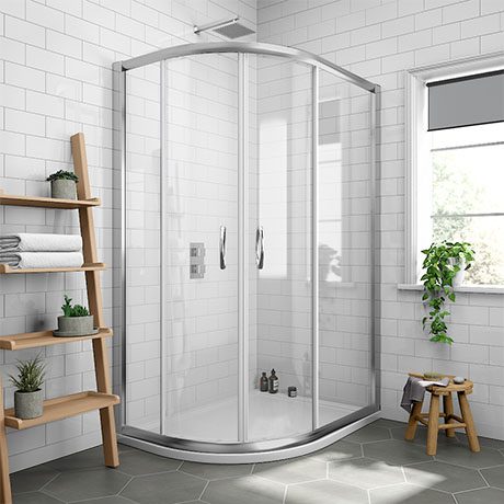 Newark Offset Quadrant Shower Enclosure Only (Easy Fit - Various Sizes)