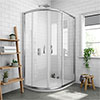 Newark Offset Quadrant Shower Enclosure Only (Easy Fit - Various Sizes) profile small image view 1