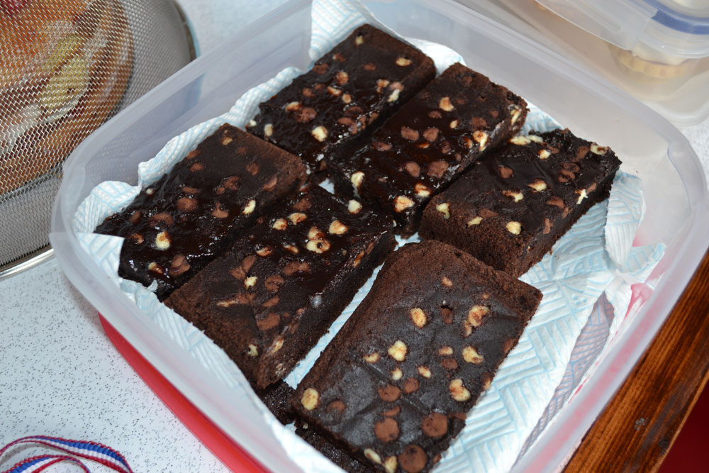 Upside Down Chocolate Brownies | VP's Bake Off - Claire House Children's Hospice
