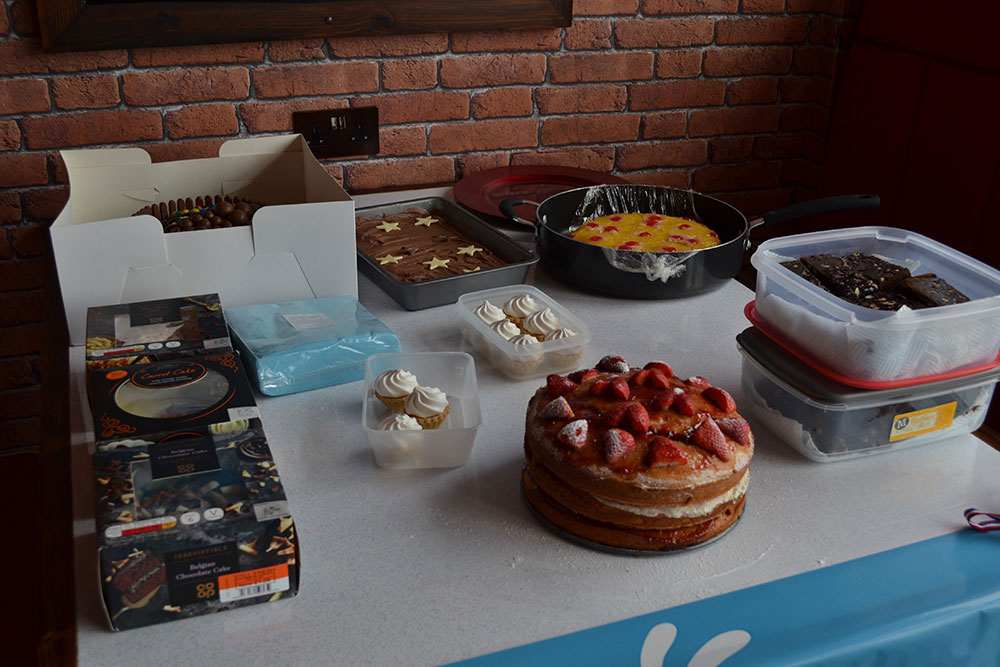 Table full of cakes | VP's Bake Off - Claire House Children's Hospice
