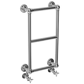 Chatsworth Traditional 700 x 400mm Chrome Cloakroom Towel Rail