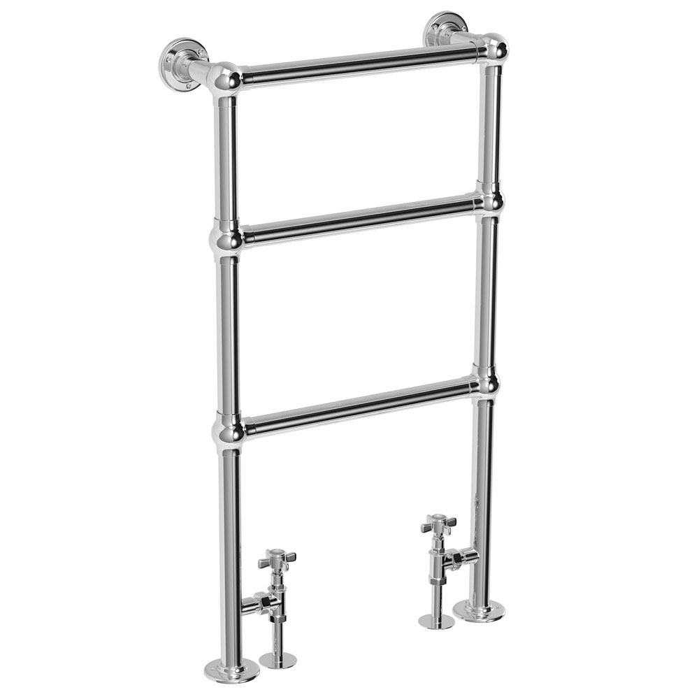 Chatsworth Traditional 949 x 498mm Chrome Towel Rail