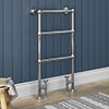 Chatsworth Traditional 949 x 498mm Chrome Towel Rail profile small image view 1