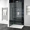 Orion Black Marble 2400x1000x10mm PVC Shower Wall Panel profile small image view 1