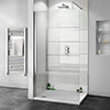 Orion White Arctic Sparkle 2400x1000x10mm PVC Shower Wall Panel profile small image view 1