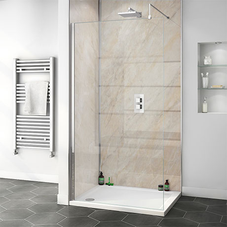 Orion Pergamon Marble 2400x1000x10mm PVC Shower Wall Panel
