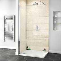 Orion Travertine Marble 2400x1000x10mm PVC Shower Wall Panel Medium Image