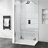 Orion White Diamond Galaxy 2400x1000x10mm PVC Shower Wall Panel Small Image